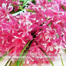 букет из луговых цветов цвета розовый с белым 14