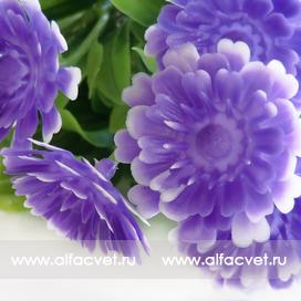 букет пластиковый хризантемы цвета синий 12