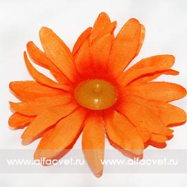 головка ромашки диаметр 13 цвета оранжевый 2