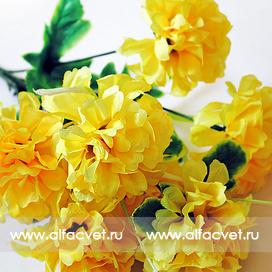 букет хризантем шарики цвета желтый 1