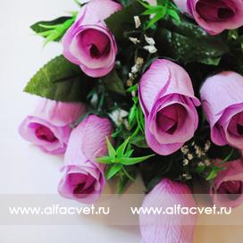 букет роз цвета фиолетовый и темно-фиолетовый 27