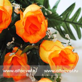 розы цвета желтый с оранжевым 17