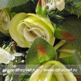 розы цвета салатовый 39