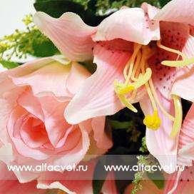 розы и лилии цвета розовый 5