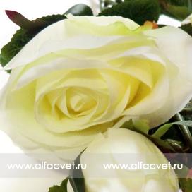 ветка роз цвета белый 6