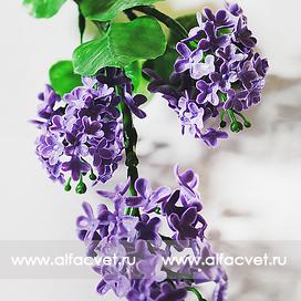 ветка сирени (пластмассовая) цвета фиолетовый 7