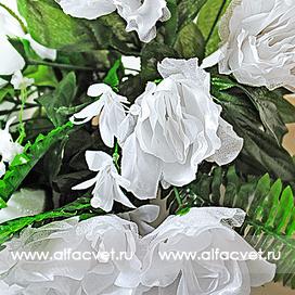 букет свадебный роз цвета белый 6
